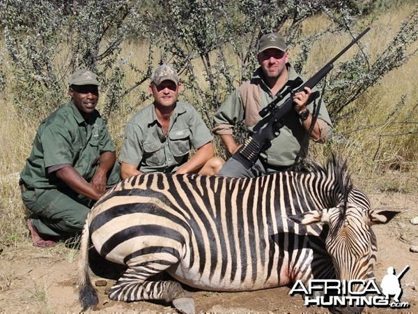 Hartmann's Zebra hunted at Westfalen Hunting Safaris Namibia