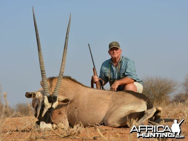 Gemsbok hunted at Westfalen Hunting Safaris Namibia