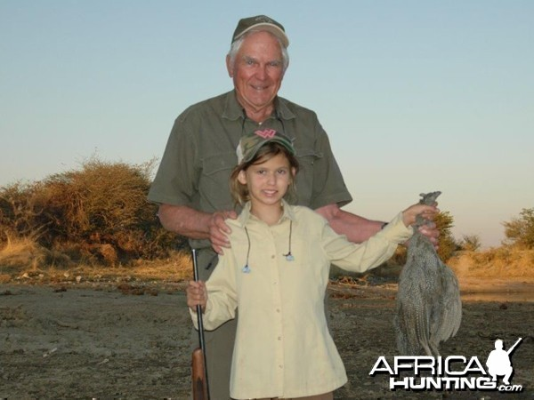 Guineafowl hunted at Westfalen Hunting Safaris Namibia
