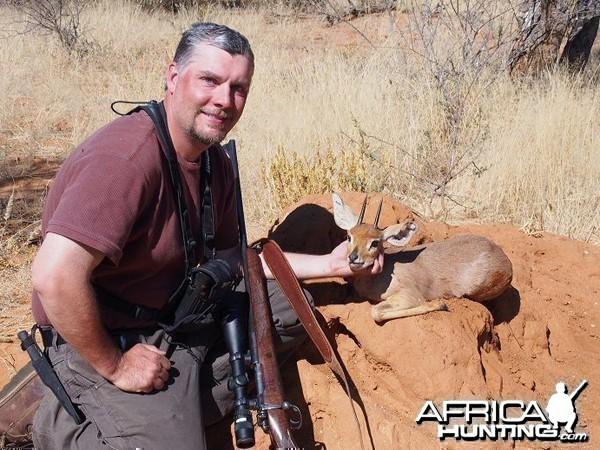 Steenbok hunted at Westfalen Hunting Safaris Namibia