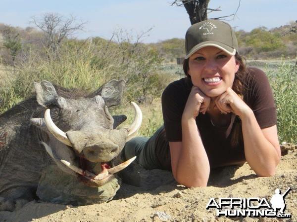 Warthog hunted at Westfalen Hunting Safaris Namibia