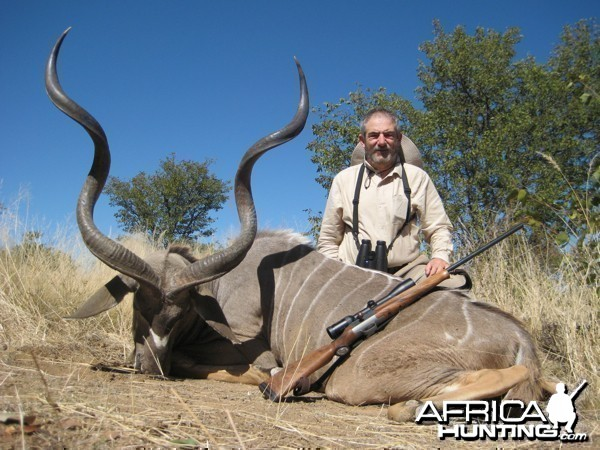 Greater Kudu hunted at Westfalen Hunting Safaris Namibia
