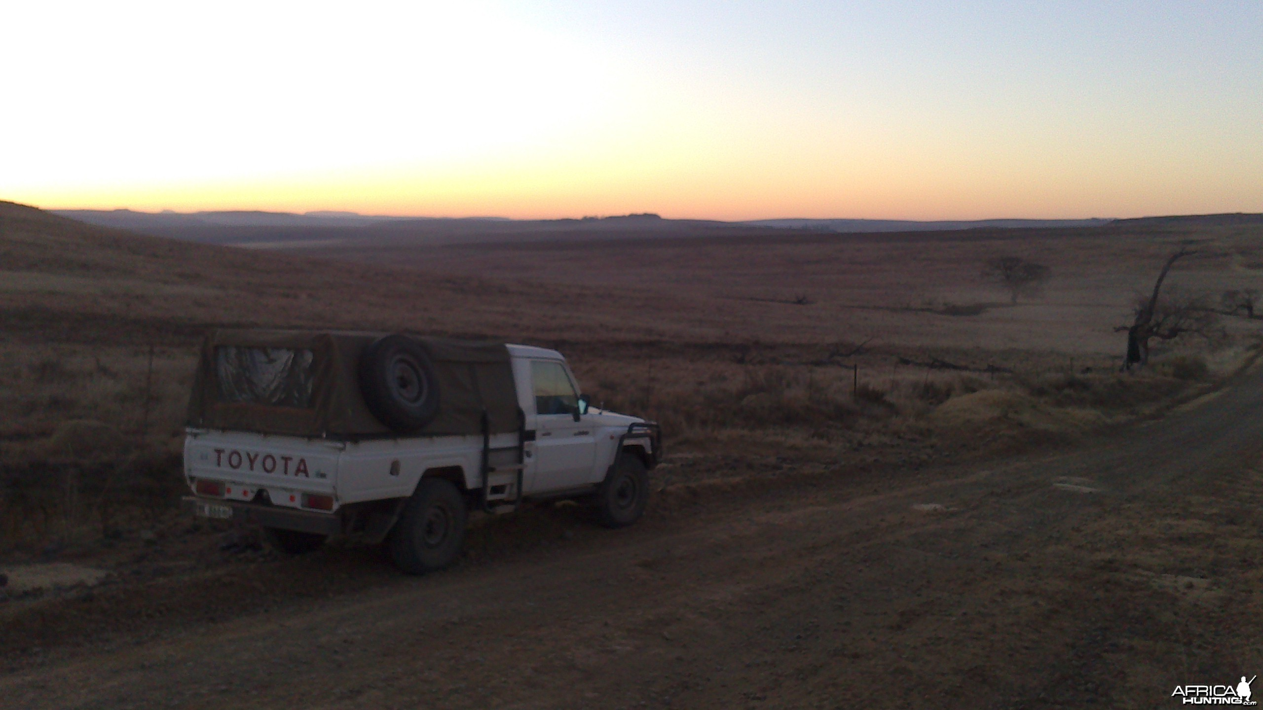 Land Cruiser and a beautiful view