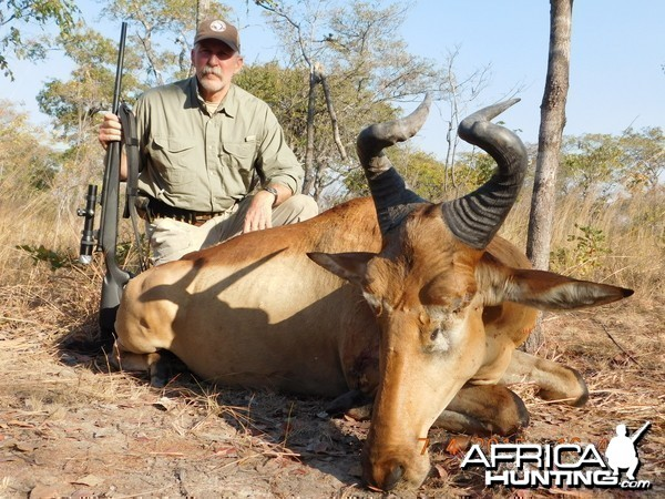 Hunting Lichtenstein's Hartebeest in Tanzania with Nathan Askew of Bullet