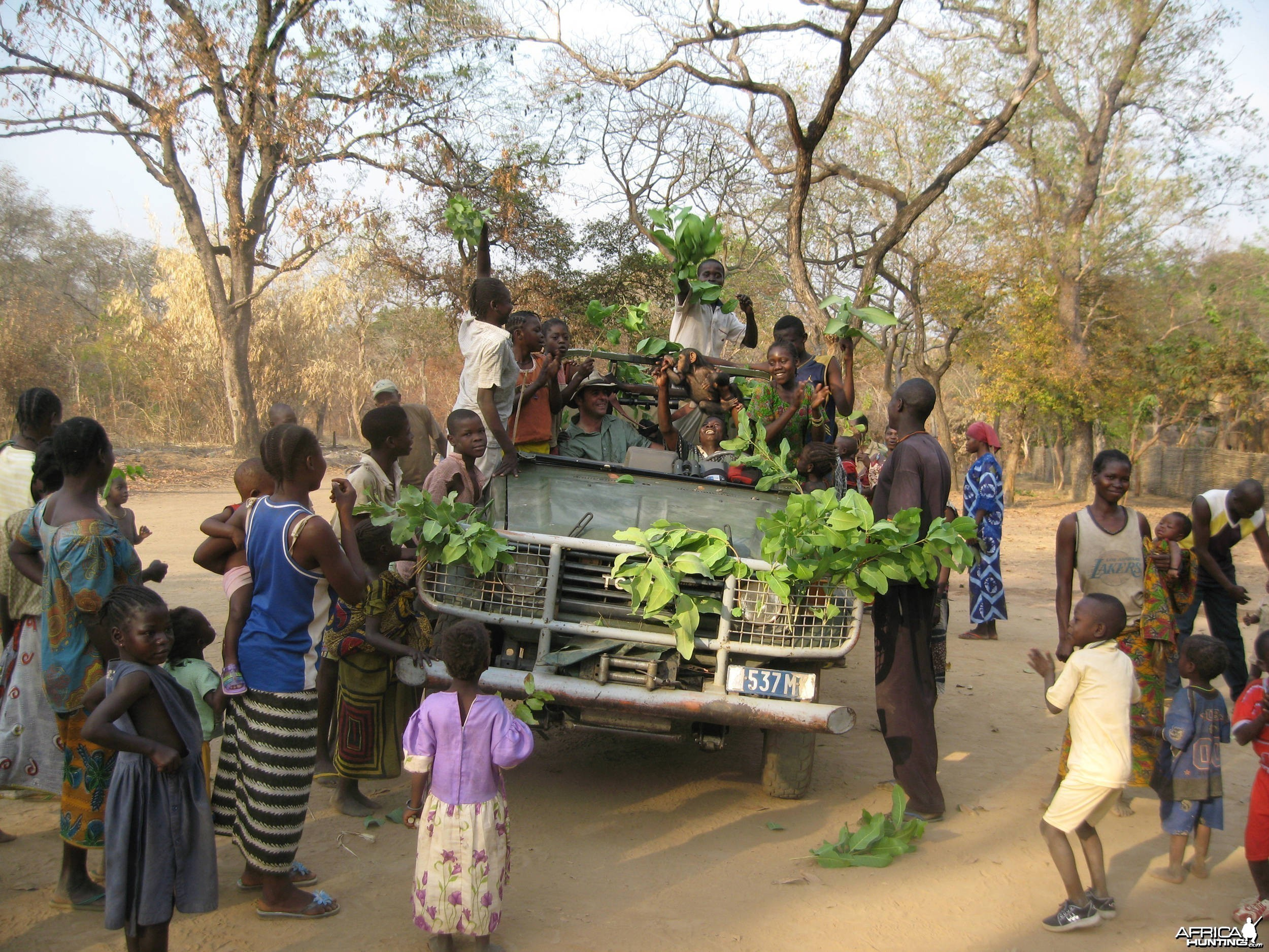 The Chimp is part of the celebration in CAR