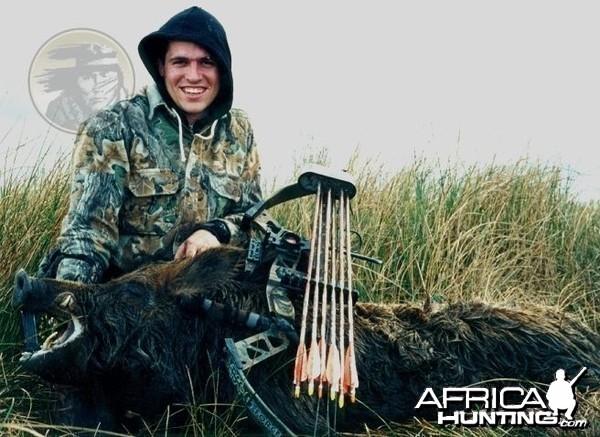 Argentina - La Pampa - wild boar at Poitahue Hunting Ranch