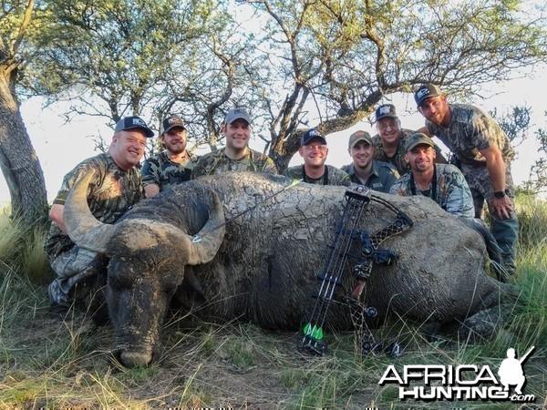 Argentina - La Pampa - water buffalo at Poitahue Hunting Ranch