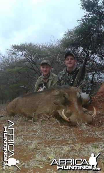warthog shot by a friend