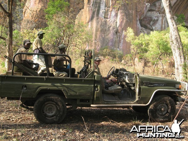 Hunting Vehicle in Central Africa