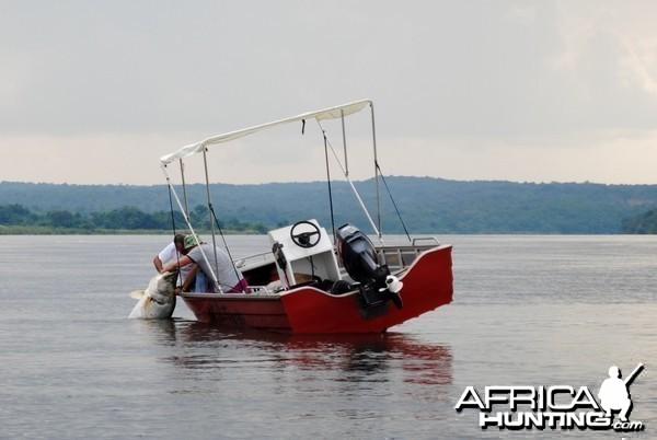 Fishing in Uganda with Bruce Martin of Lake Albert Safaris