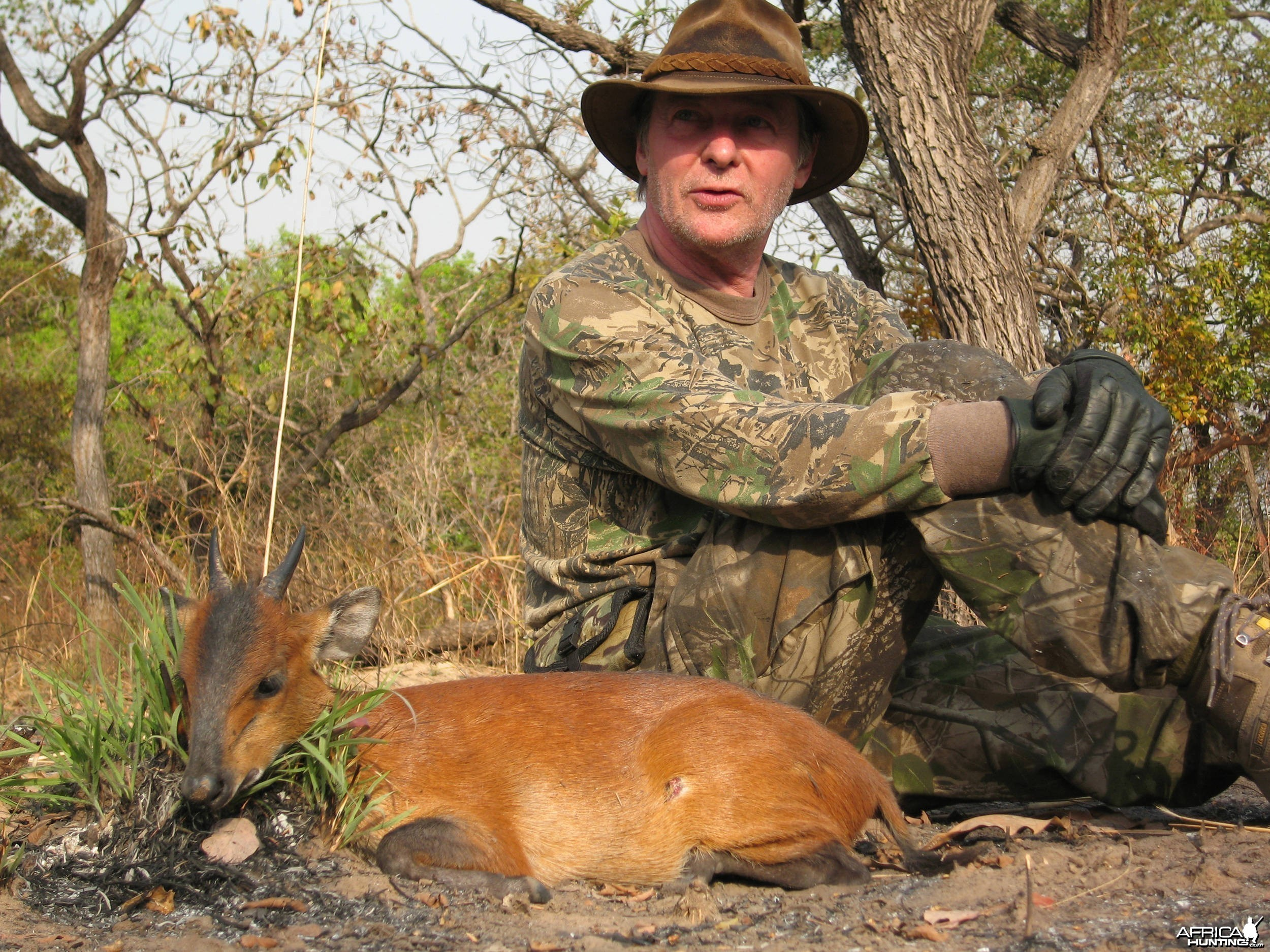 Hunting Red-Flanked Duiker in CAR