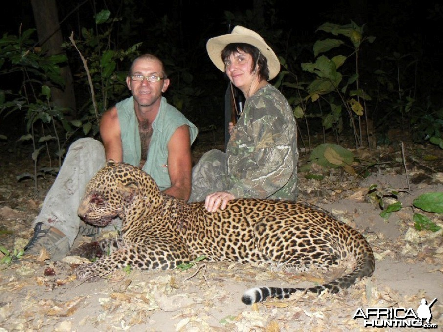 Leopard hunting in Central Africa