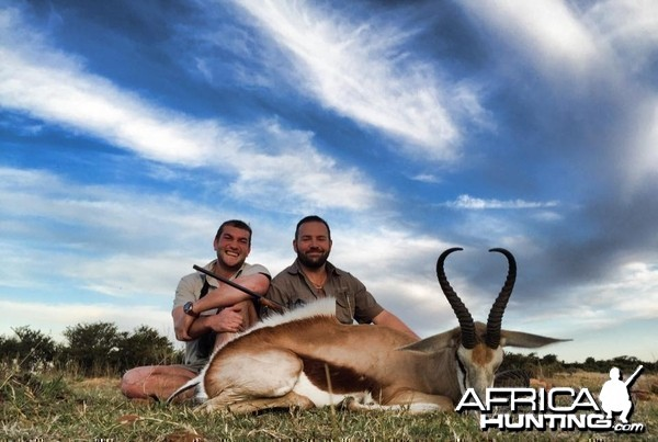 Good springbuck with client
