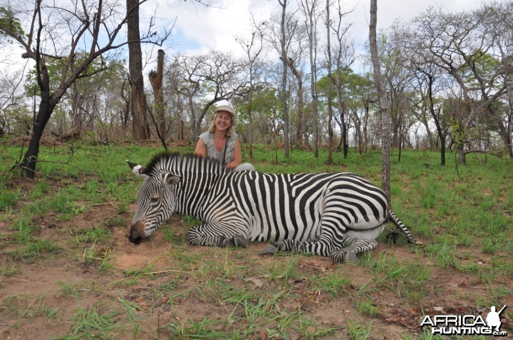 Hunting in the Selous Zebra