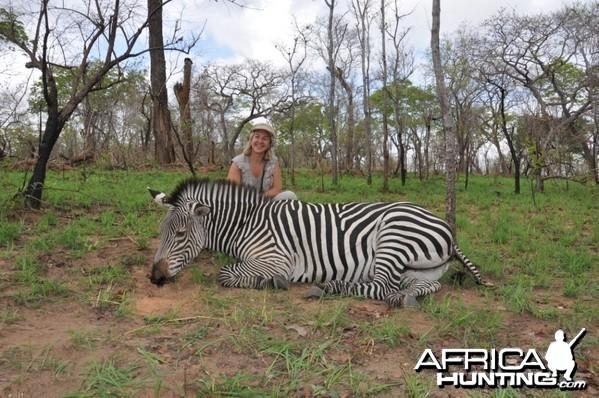 Hunting in the Selous Zebra