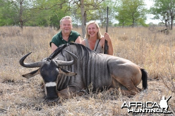Hunting in the Selous Nyasaland Gnu
