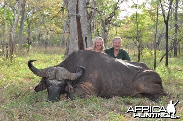 Hunting in the Selous Buffalo