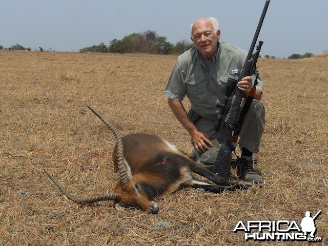 Another Black Lechwe with Spear Safaris