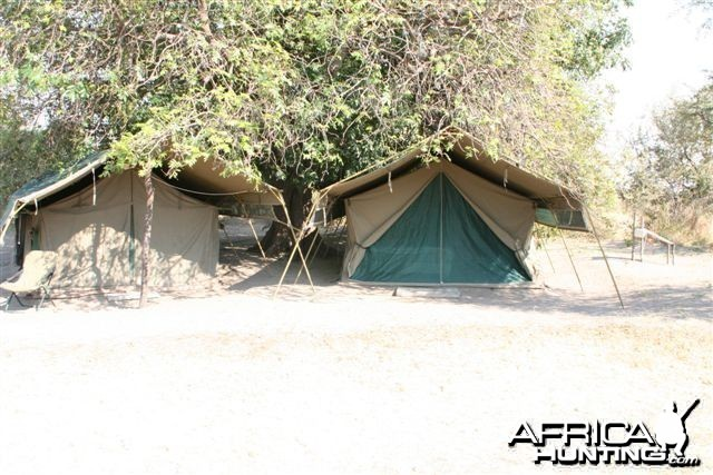 Tents in Caprivi Namibia