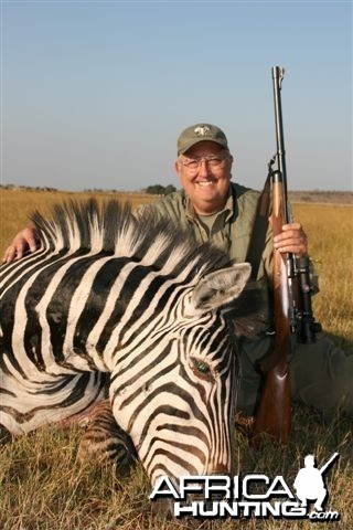 A monster Zebra stallion I took with Classic Safaris on my buffalo hunt
