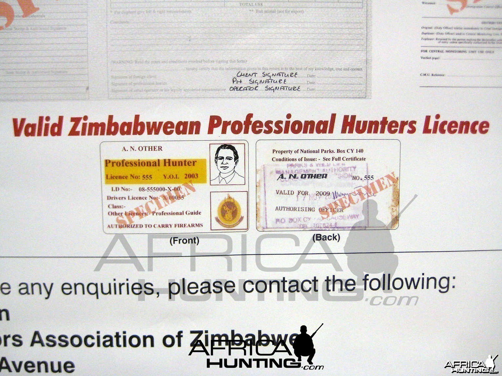 Hunting Zimbabwe - Important Notice To All Hunting Clients