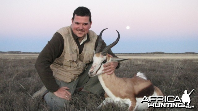 Hunting Springbok in South Africa - Ram 11 inches long