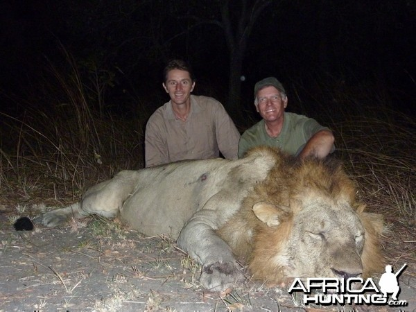 Lion hunting in the Selous Tanzania