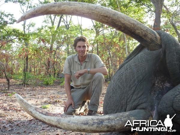 Elephant hunted in the selous, Tanzania