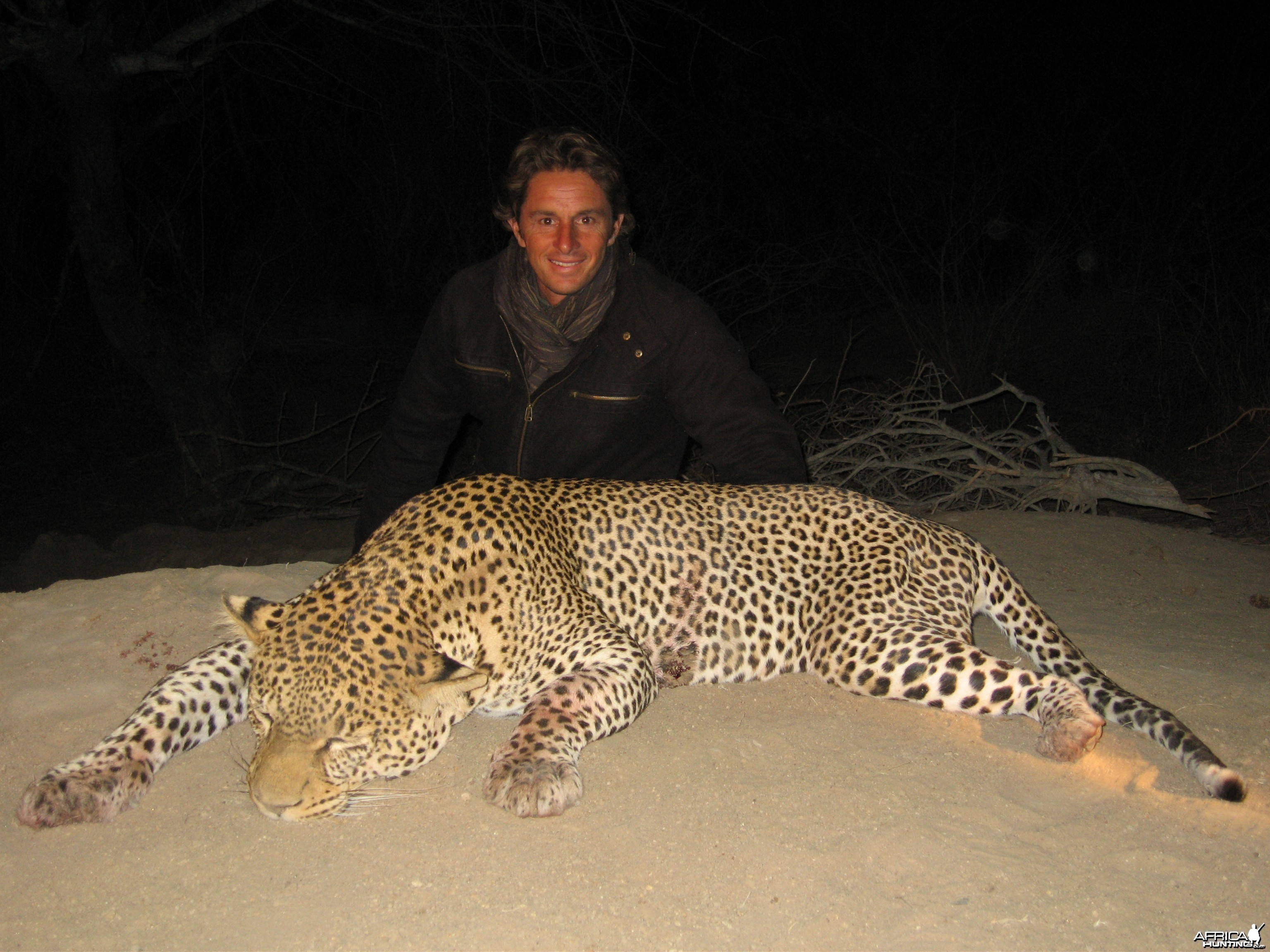 Big Leopard hunted in Massai Land Tanzania