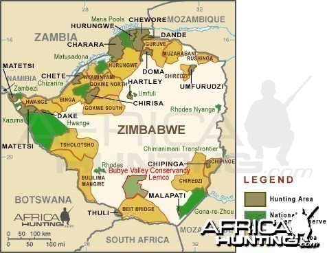 Zimbabwe Bubye Valley Conservancy (Lemco) Map