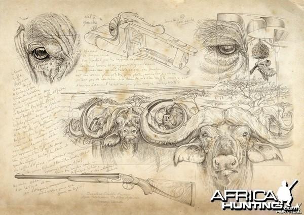 Wildlife Artist Marcello Pettineo - Buffalo Gun Engraving