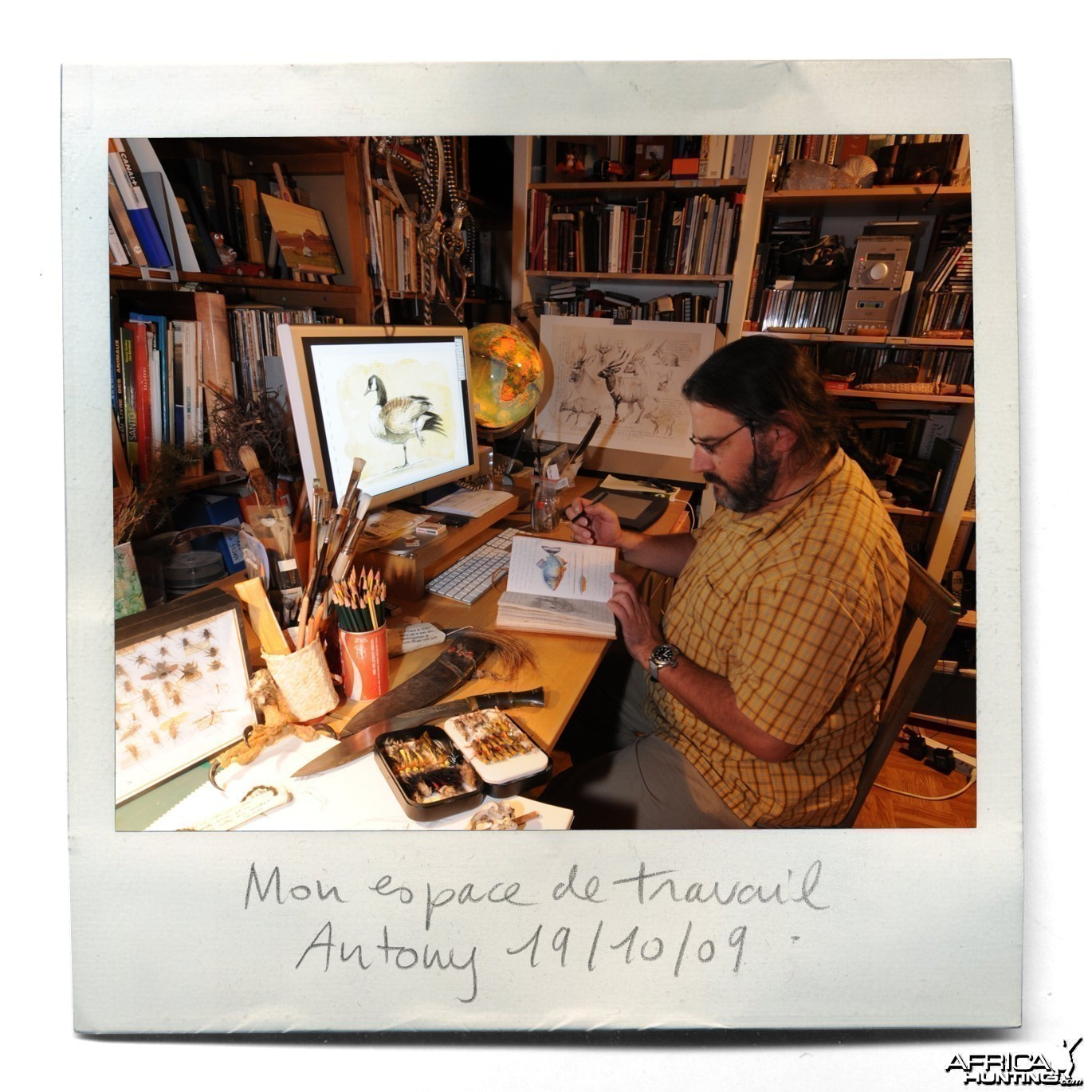 Wildlife Artist Marcello Pettineo - In His Studio