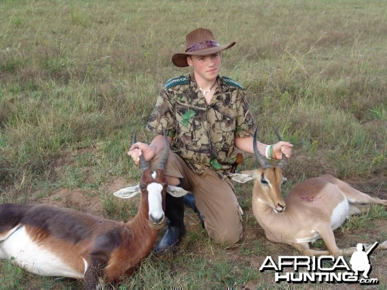 Blesbuck and Impala