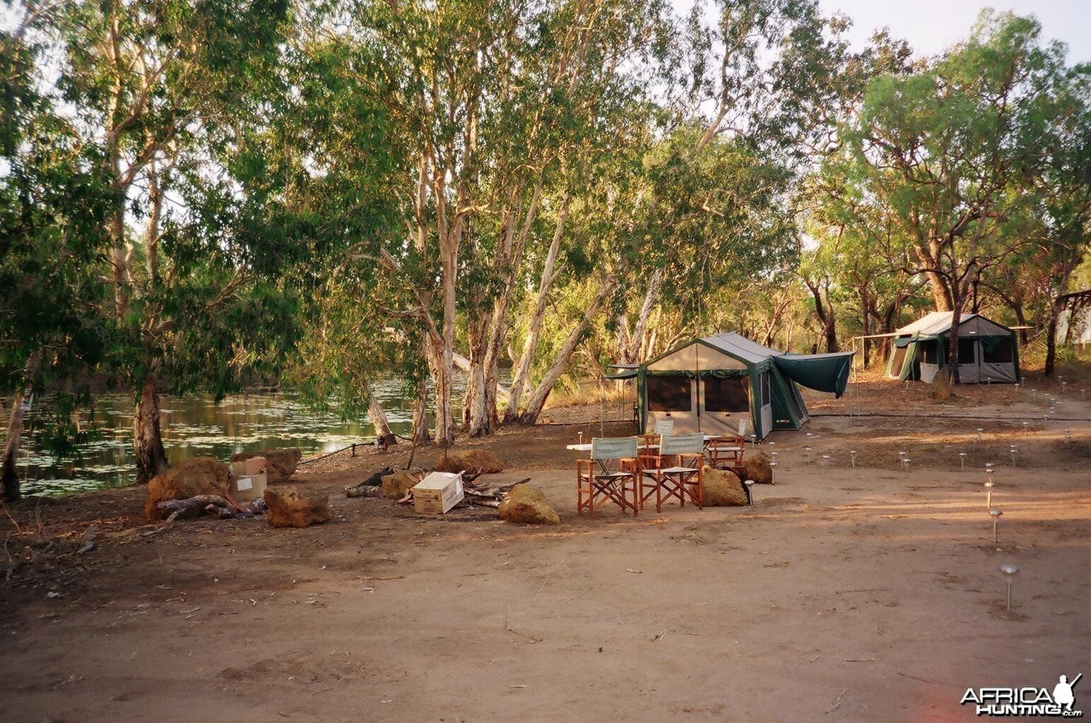 Tent camp, Arnhemland, Australia.