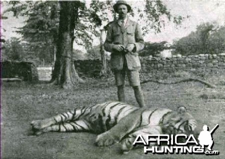 Jim Corbett with Tiger
