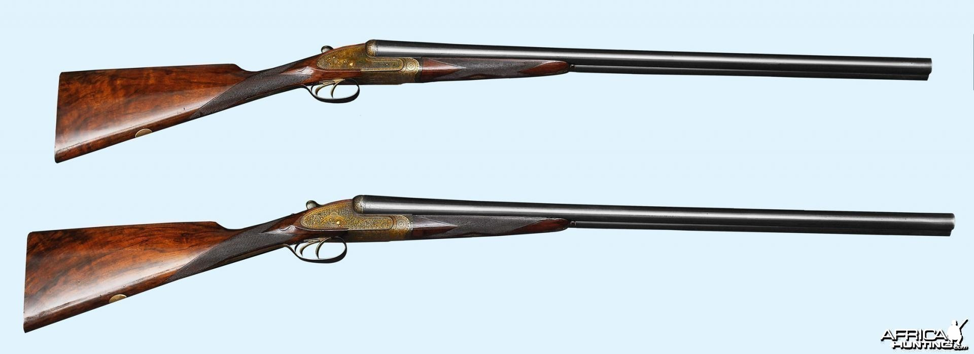Custom Pair of 12 Gauge Holland & Holland Shotguns