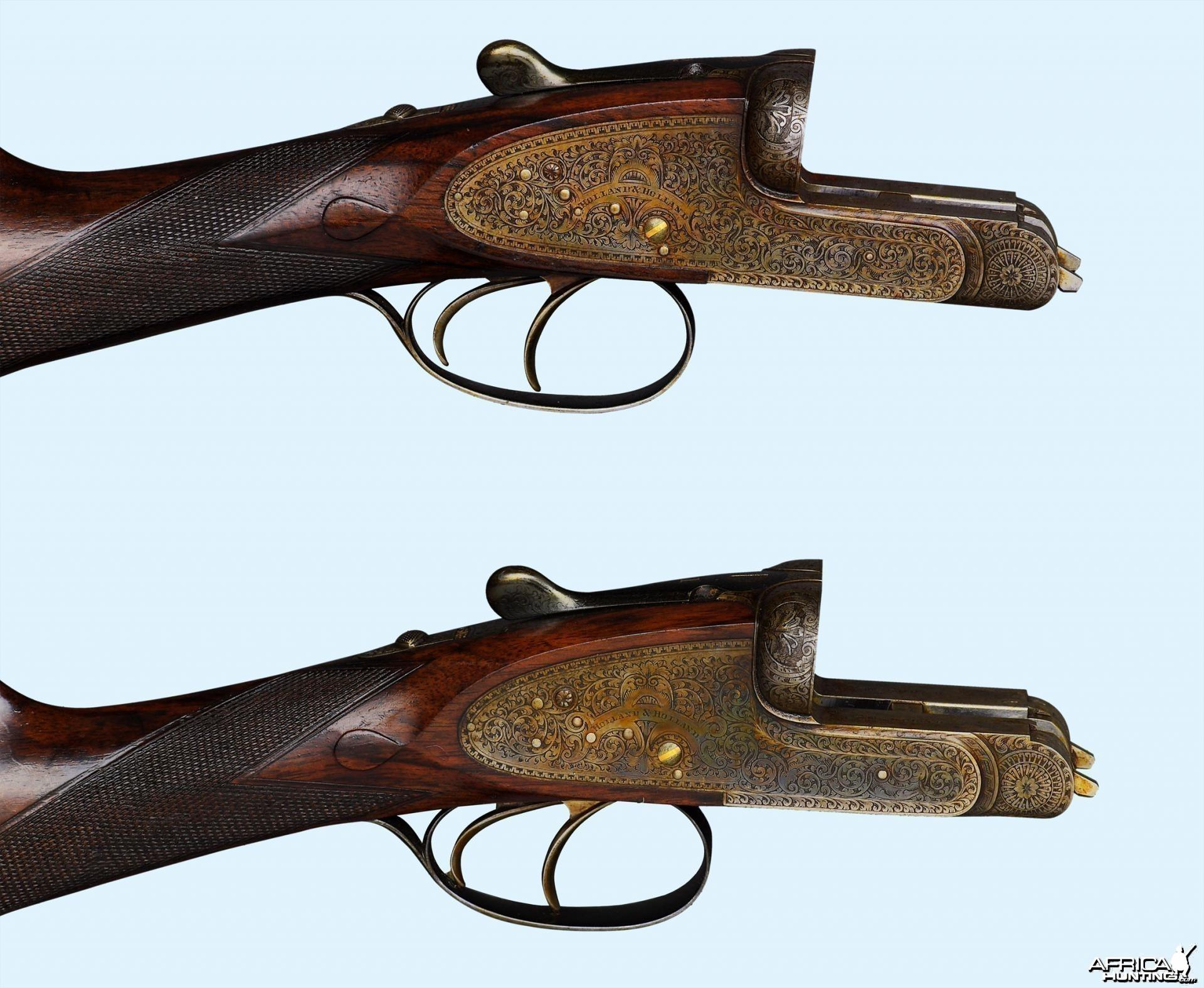 Custom Pair of 12 Gauge Holland & Holland Shotguns