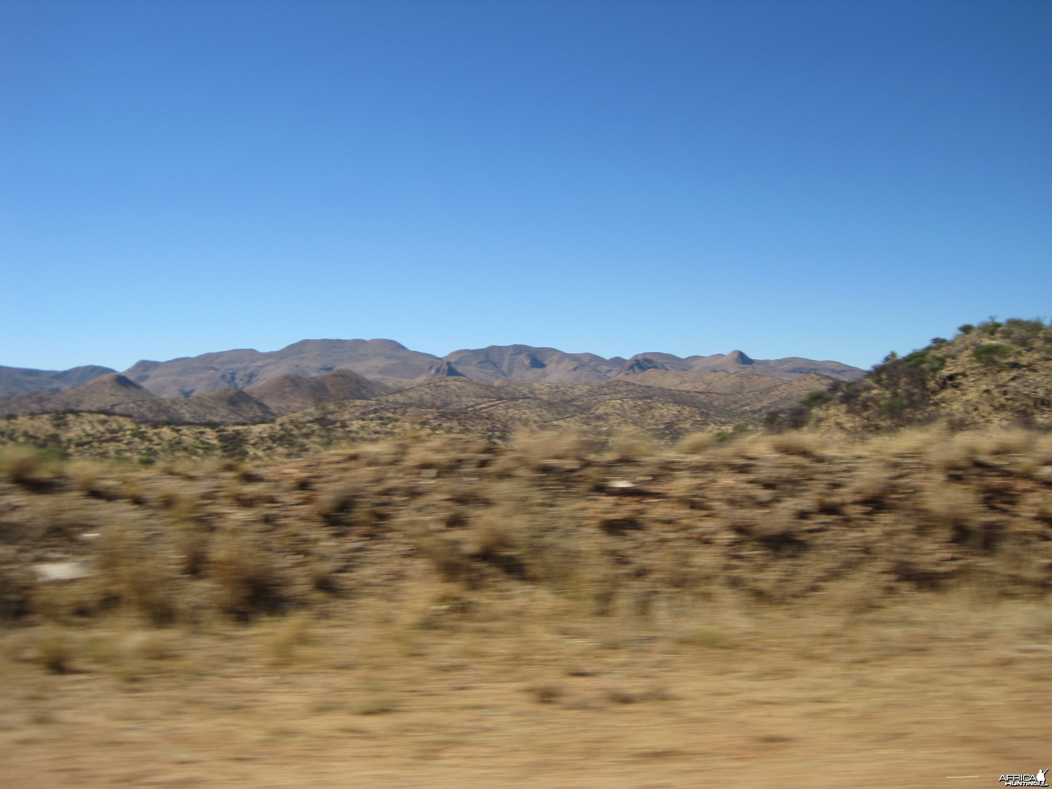On the road to Windhoek from International Airport in Windhoek, Namibia