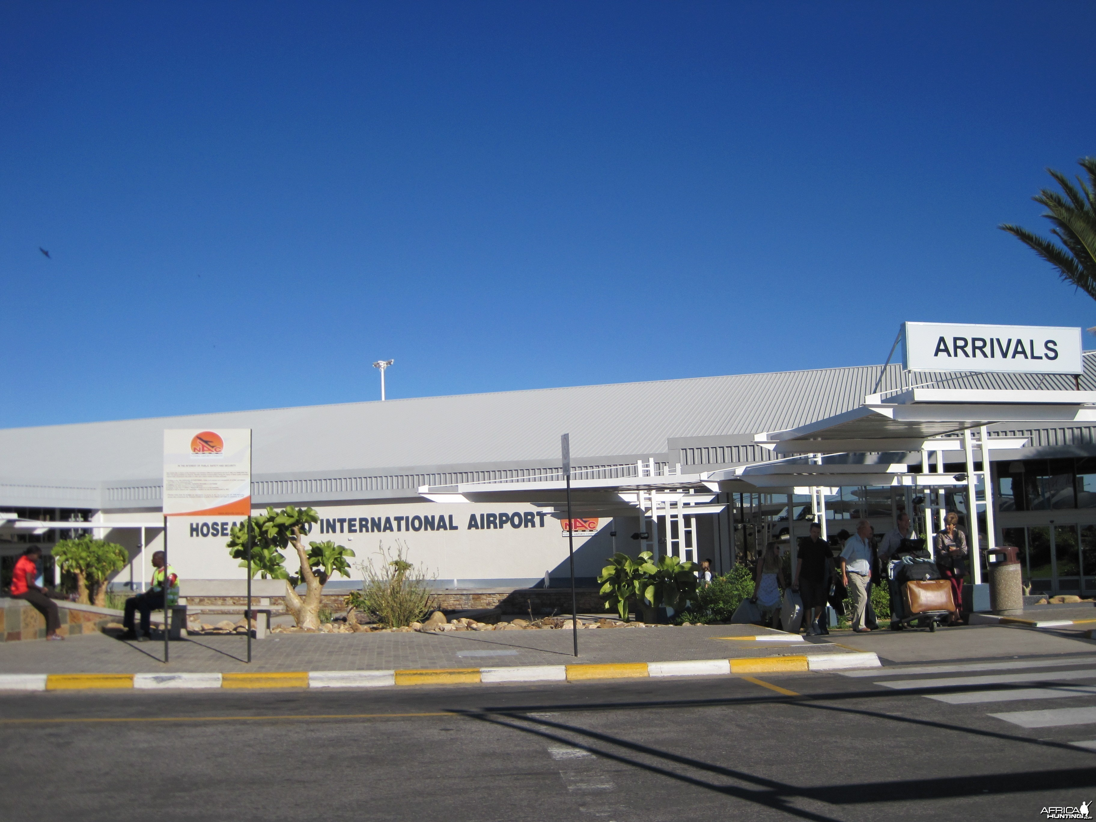 Arrivals at the International Airport in Windhoek, Namibia
