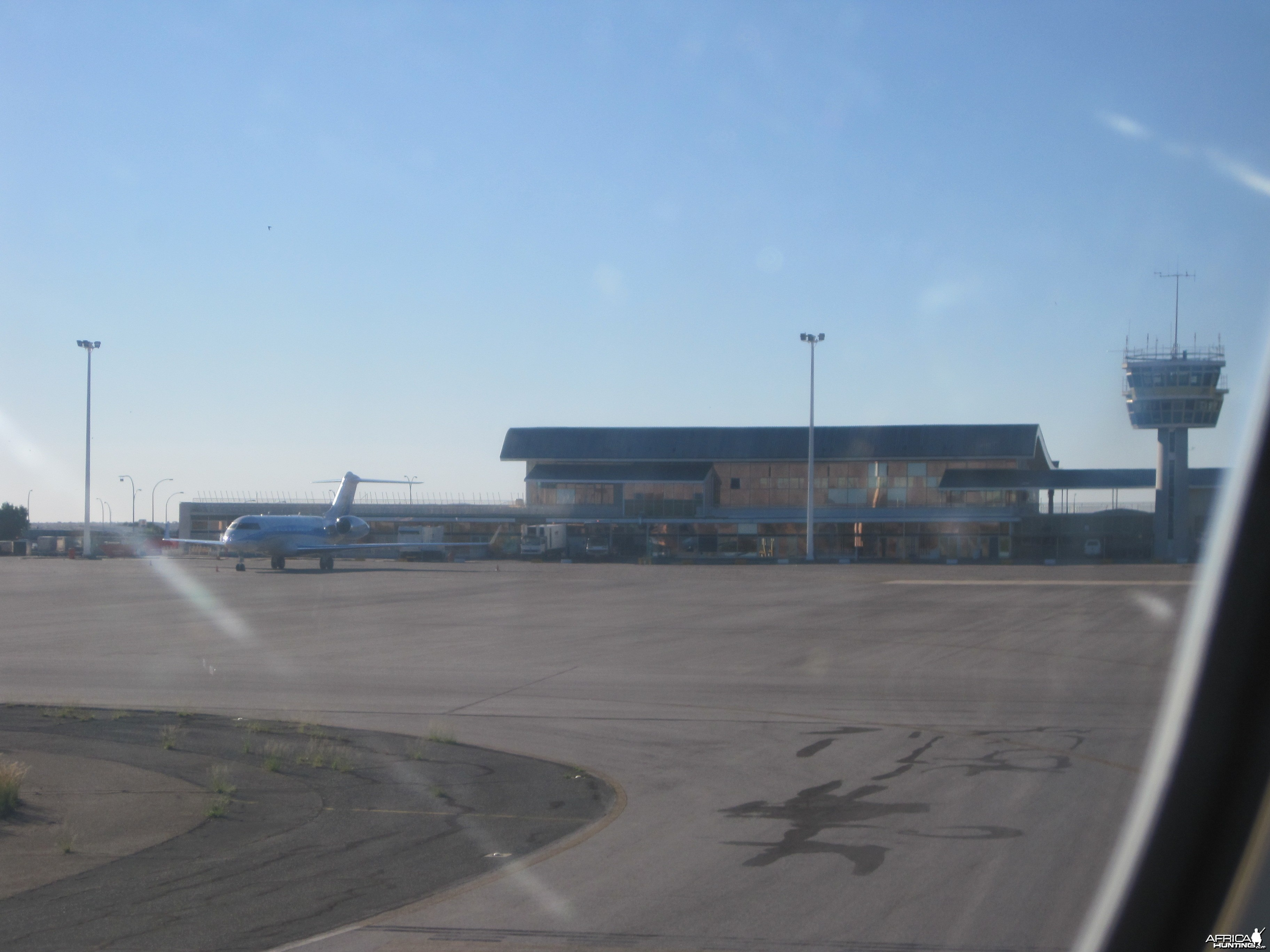 Taxing arrival to the International Airport in Windhoek, Namibia