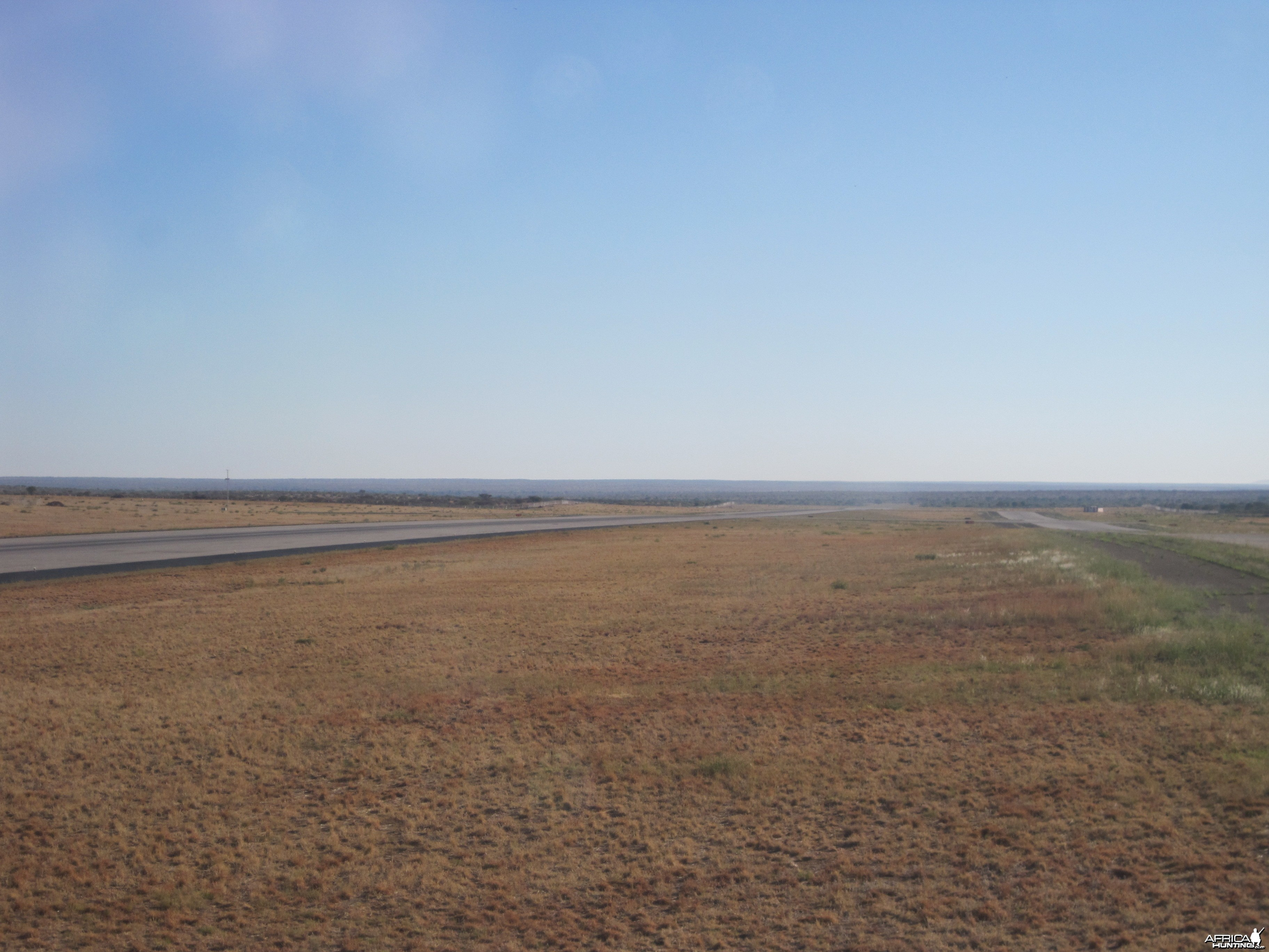 Runway at the International Airport in Windhoek, Namibia