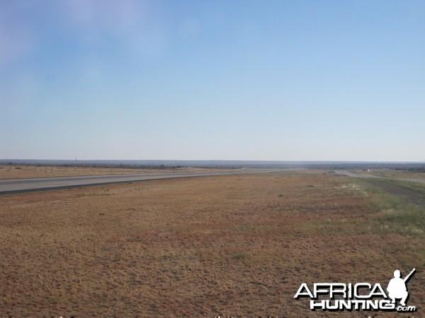 Runway at the International Airport in Windhoek, Namibia