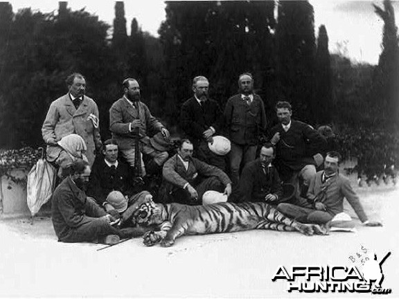 Prince of Wales after his Tiger hunt