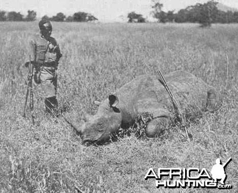 1909 Mombasa Nairobi Theodore Roosevelt Hunting Rhino