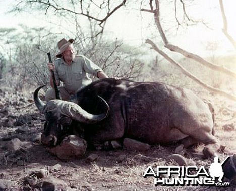 Ernest Hemingway  1950 Hunting Cape Buffalo