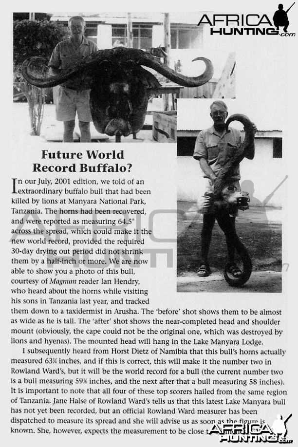 Futures World Record Buffalo?