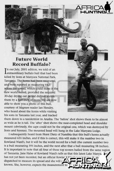 Futures World Record Buffalo?