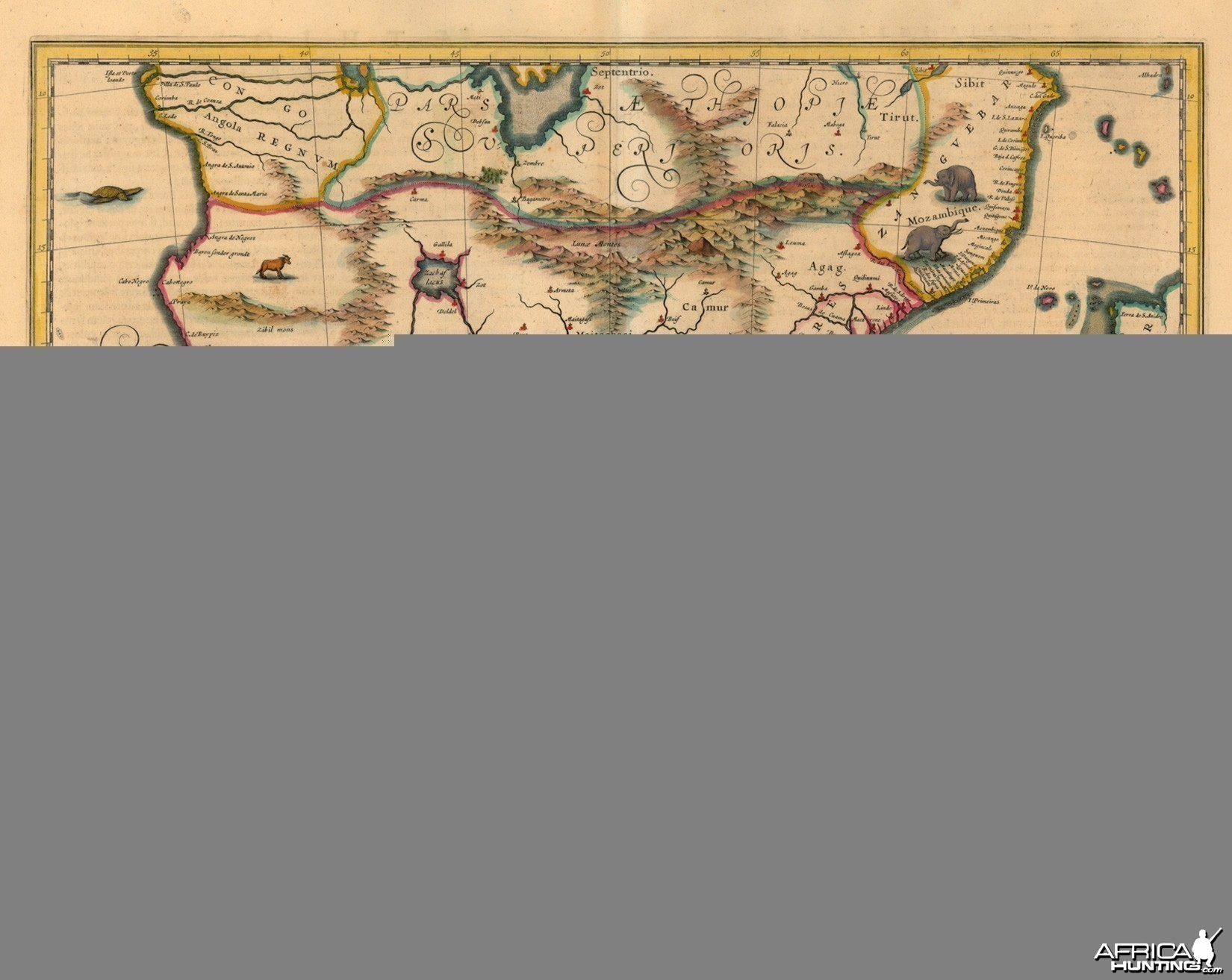 Antique Map of Southern Africa