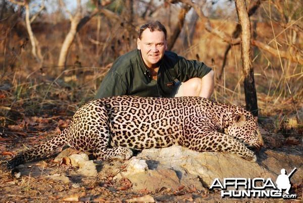 Leopard hunting in CAR