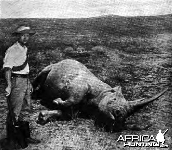 Capt. Duquesne hunting Black Rhino